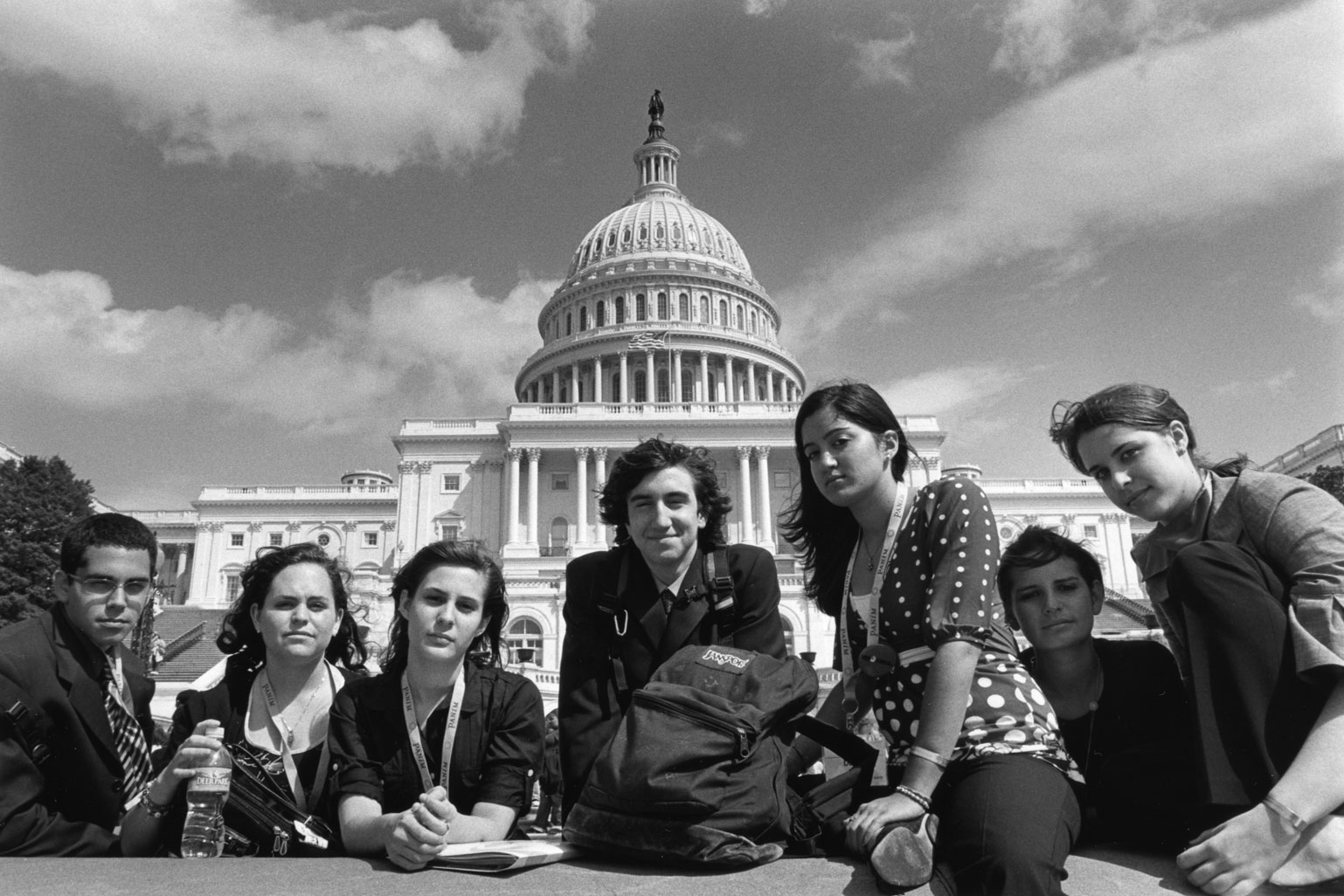 Civil Discourse Curriculum - Students on steps of the US Capitol