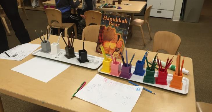 Brotherhood Hanukkah Bear book on table
