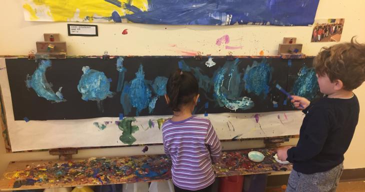 Educational Alliance pre-schoolers painting