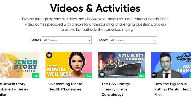 This is the homepage for browsing through Unpacked for Educators many videos.
