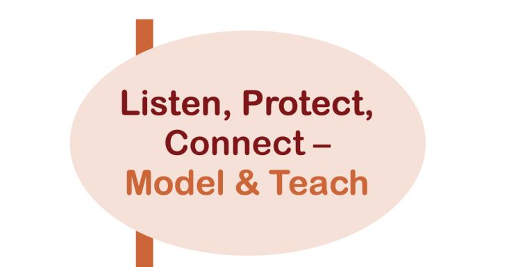 Listen, Protect, Connect - Model & Teach
