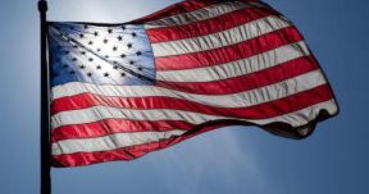 American Flag in Sunlight