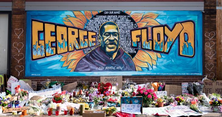 George Floyd Mural in Minneapolis, photo by Lorie Shaull, Creative Commons image