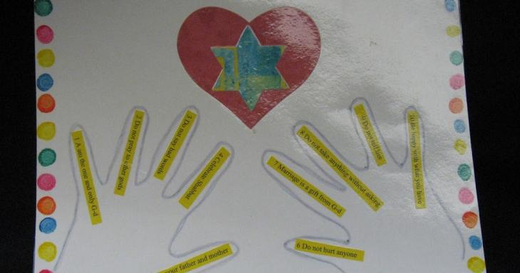10 Commandments art project