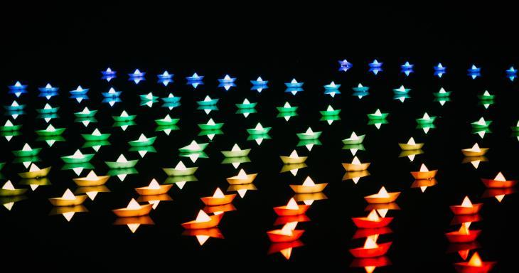 Jewish Star Rainbow Colors