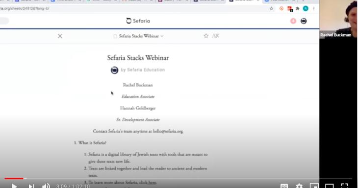 Sefaria Stacks Webinar Video