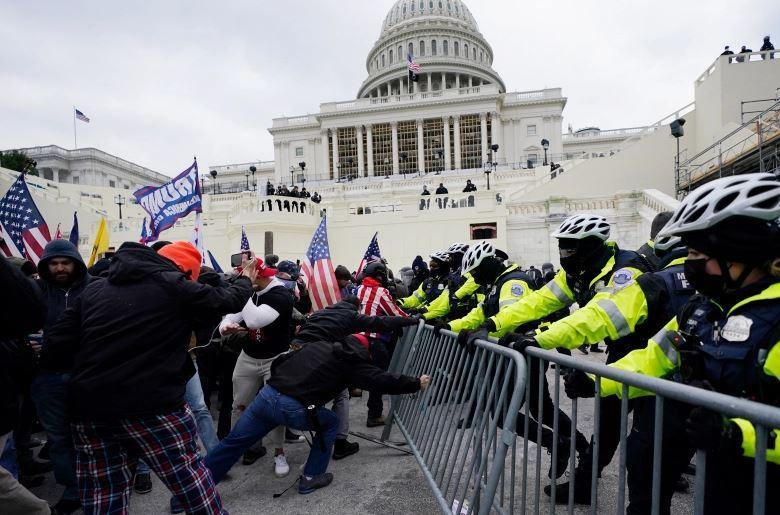 Scene from the Events at the U.S. Capitol