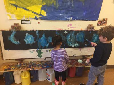 Educational Alliance pre-schoolers painting