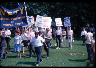 National Federation of Temple Youth at the March on Washington on August 28, 1963.