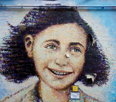 Mural of Anne Frank