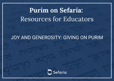 Joy and Generosity: Giving on Purim