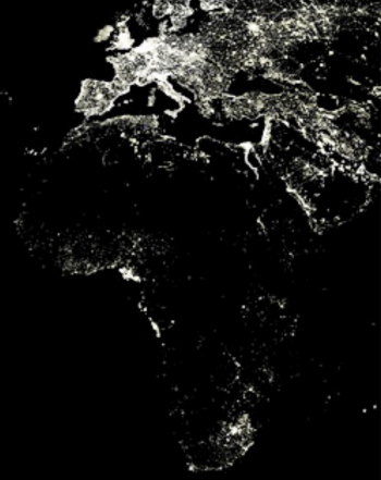 Map of Africa's Electricity Distribution