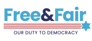 Free and Fair - Our Duty to Democracy logo